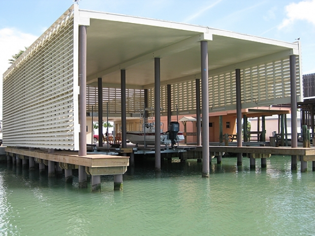Briggs Boathouse built with Pearson Pilings