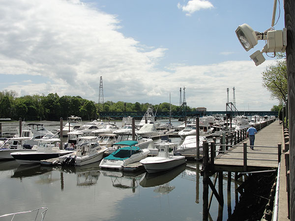 commercial pier in Greenwich, CT