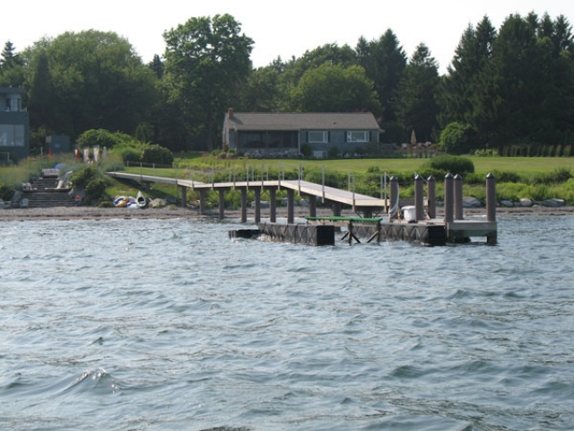 Jamestown, RI Pier with fiberglass pilings