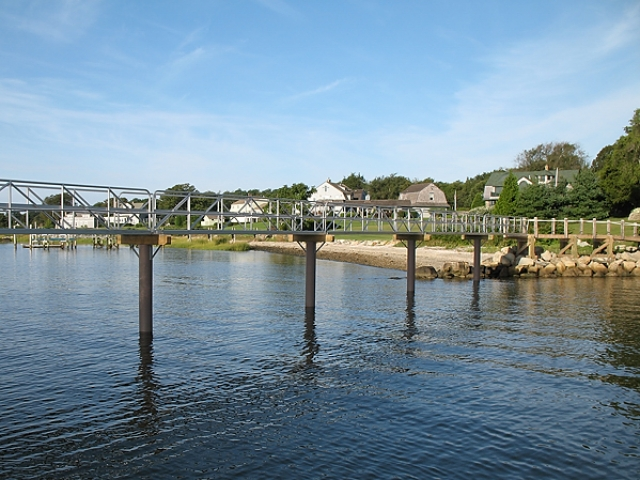 monopile span in RI with fiberglass pilings
