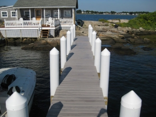 dock in Mouse Island, CT