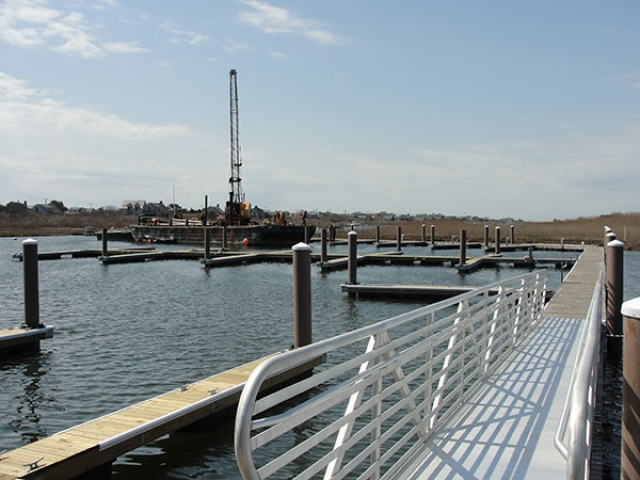 Nantucket, MA dock with Pearson Pilings
