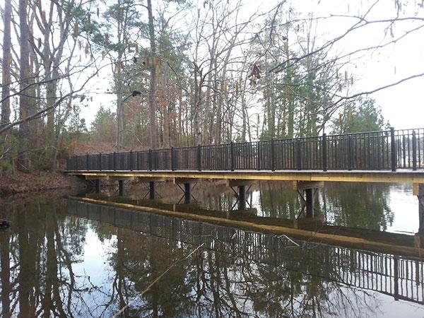 Nature Walk in North Carolina bridge with fiberglass pilings