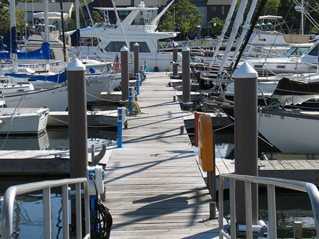 Newport, RI commercial dock with Pearson Pilings