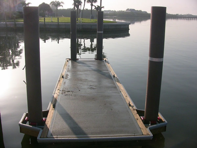 Placida Harbor, FL dock with Pearson Pilings