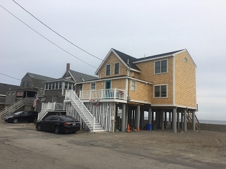 Scituate, MA home on stilts