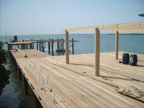 dock in South Africa built with Pearson Pilings