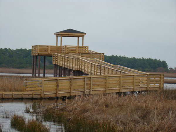 Viewing platform, GA built with Pearson Pilings