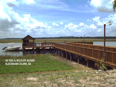 US Fish and Wildlife Refuge Blackbeard Island, GA built with Pearson Pilings