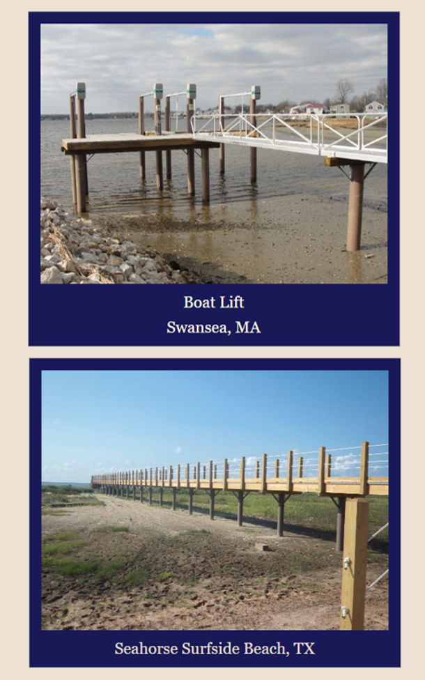 Monopile dock pearson pilings for Dock pilings cost