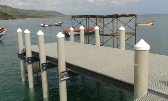 South America Pier Pilings