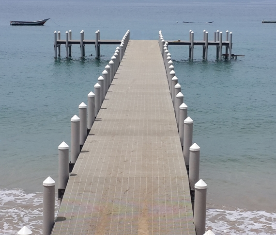 South american fishing pier pilings pearson pilings for Dock pilings cost