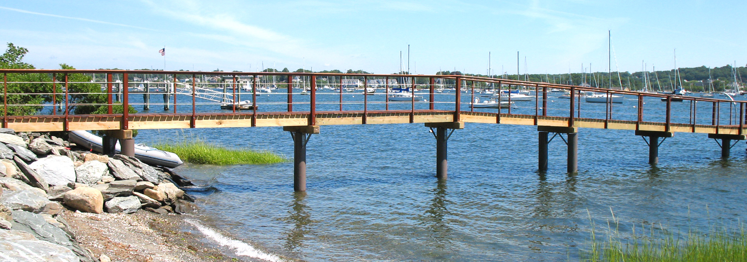 Pearson pilings fiberglass composite pilings waterfront for Dock pilings cost