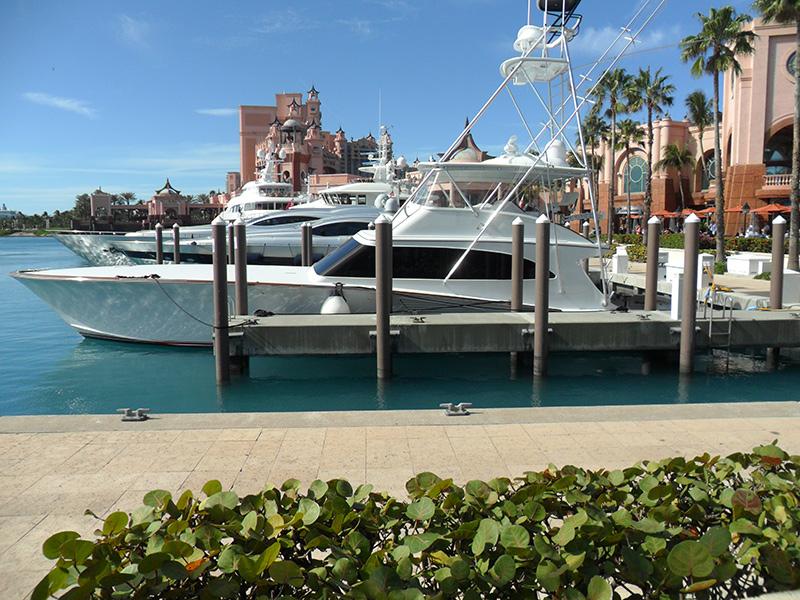 Boat docked at Atlantis Marina data-title=