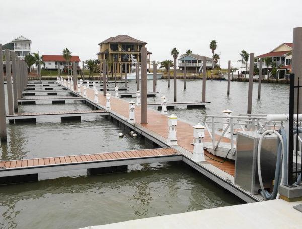 Bridge Harbor, Texas Pilings for marina