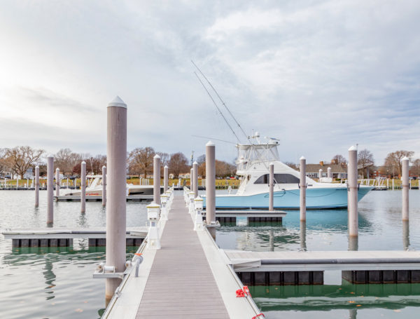 commercial marina pilings Falmouth, Massachusetts