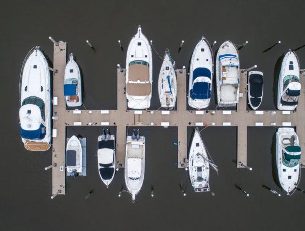 marina pilings Carolina Beach, North Carolina