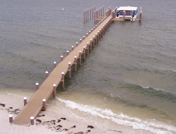 Pensacola, Florida pier pilings