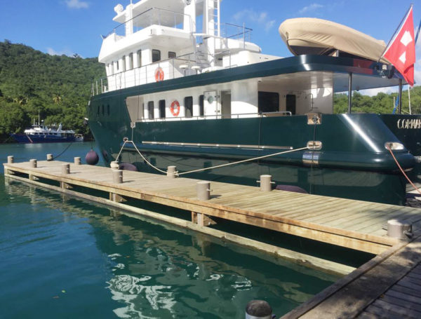pilings Marigot Bay, St. Lucia