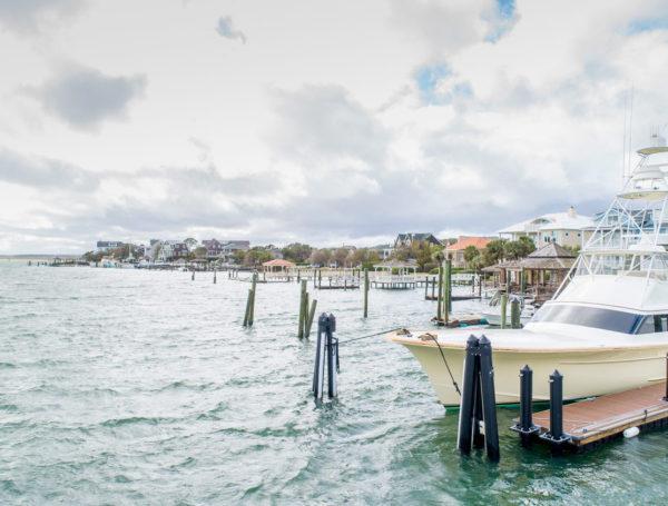 residential dock Writsville Beach, North Carolina