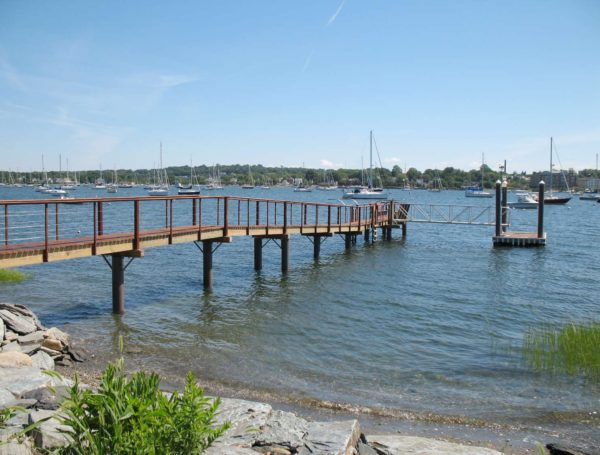 residential pier pilings Bristol, Rhode Island