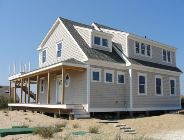 Eastham, Massachusetts piling home foundation