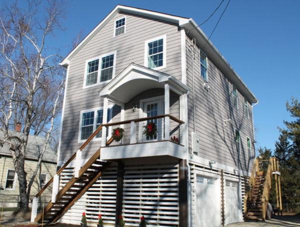 Fairfield, Connecticut home foundation on pilings